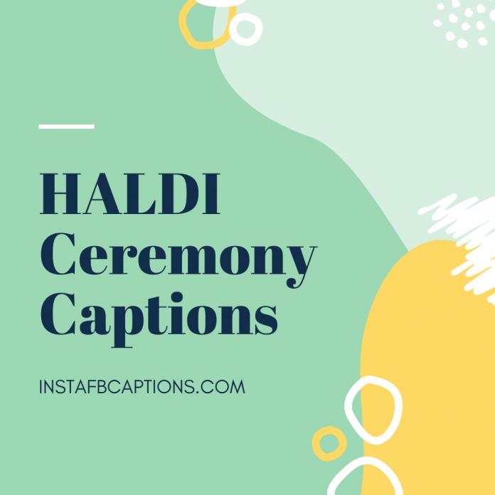 Haldi Ceremony Captions