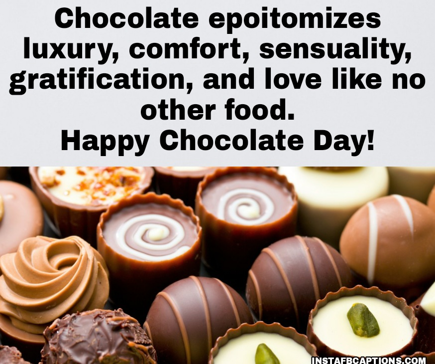 Chocolate Day Greetings  - Chocolate Day Greetings - 250+ CHOCOLATE DAY Instagram Captions & Quotes 2021