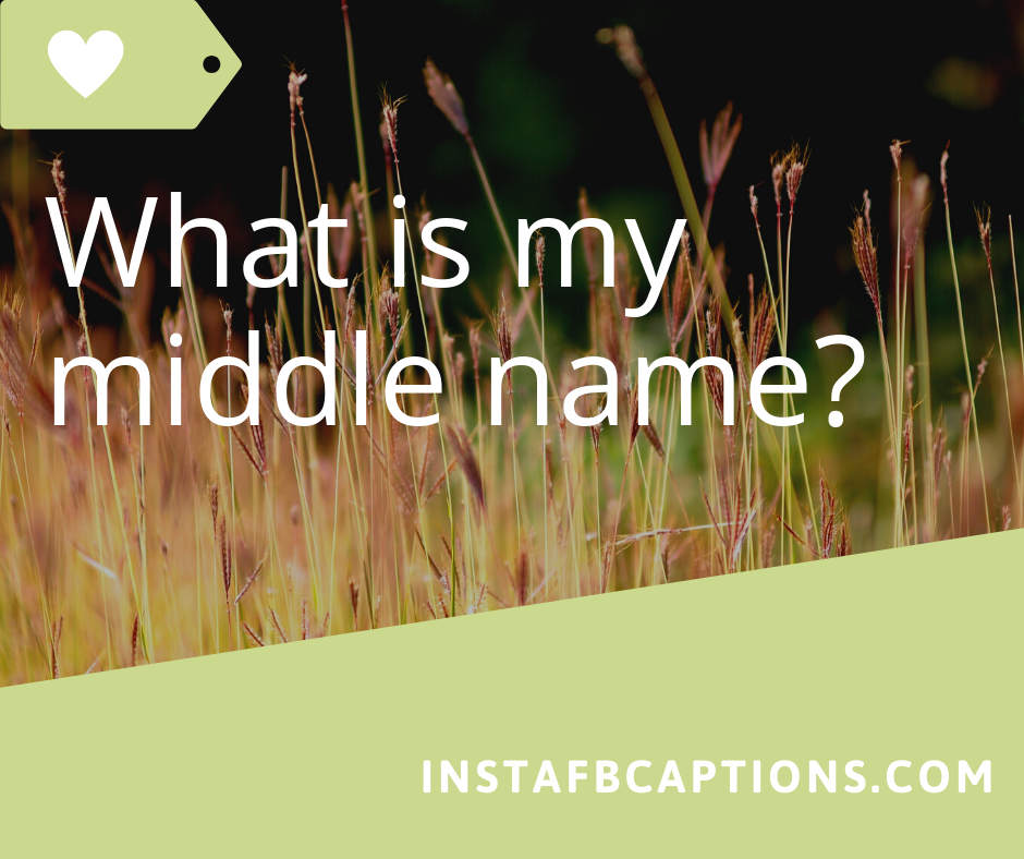 What Is My Middle Name  - What is my middle name - 150+ ASK ME A QUESTION Ideas for Instagram 2021