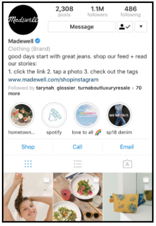 Fashion Business Instagram Bio  - call to action - INSTAGRAM BIO for BUSINESS 2021 – Clothing, Fashion, Food, Jewelry