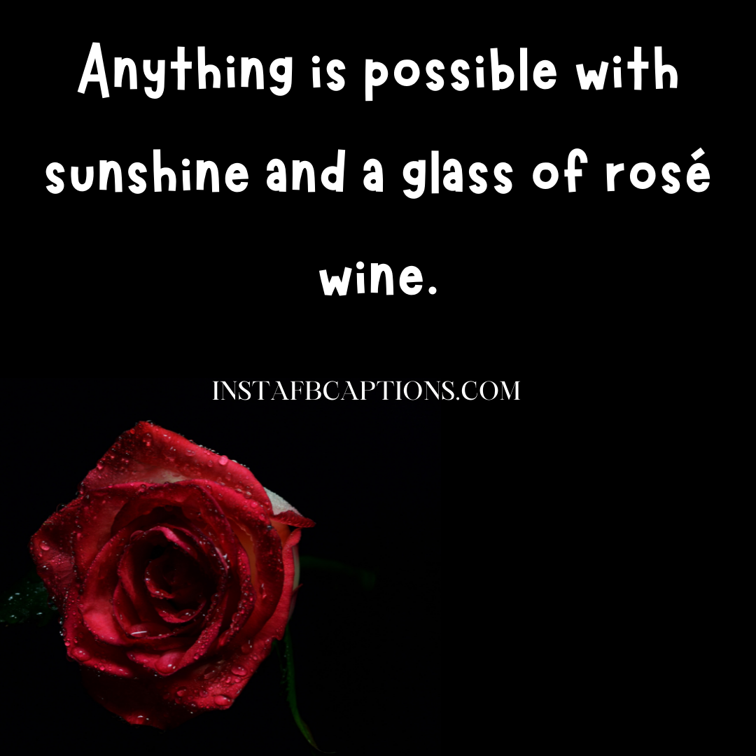 Rose Wine Captions   - Rose Wine Captions   - 99+ Classiest Captions for Wine Lovers in 2021