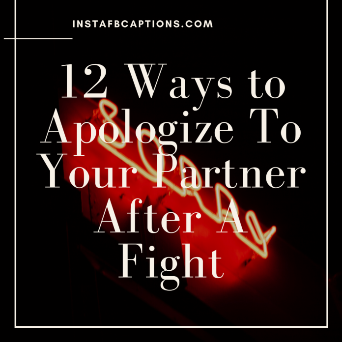 12 Ways To Apologize To Your Partner After A Fight
