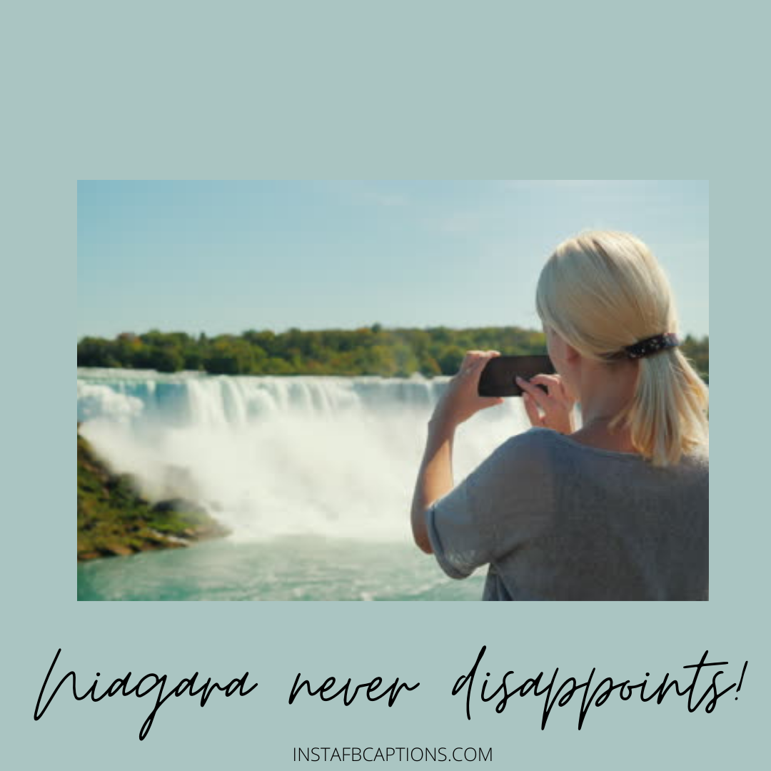 Captions For Selfies Of Niagara Falls For Girls  - Captions for Selfies of Niagara Falls for Girls - NIAGRA FALLS Captions & Quotes for Instagram Pictures in 2021