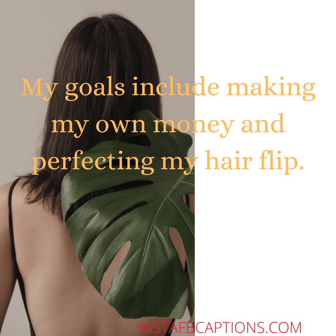 Long Hair Dreams Captions  - Long Hair Dreams Captions - HAIR FLIP Instagram Captions for Girls in 2021