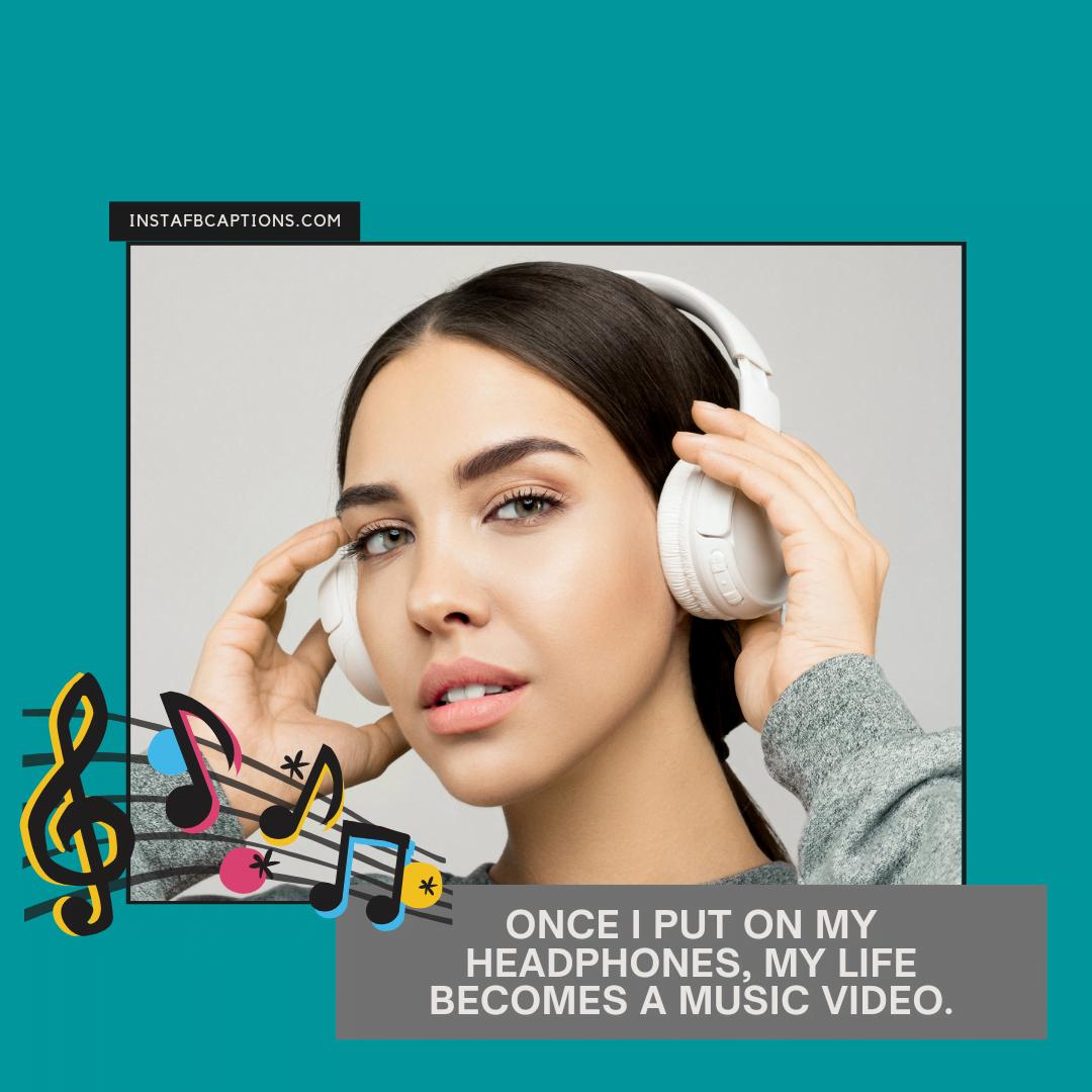 Snappy Headphones Captions  - Snappy Headphones Captions - Show Off with Captions for HEADPHONES Instagram Pictures in 2021