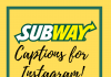 Subway Captions  - Subway Captions 100x70 - Best Instagram Captions of All Time
