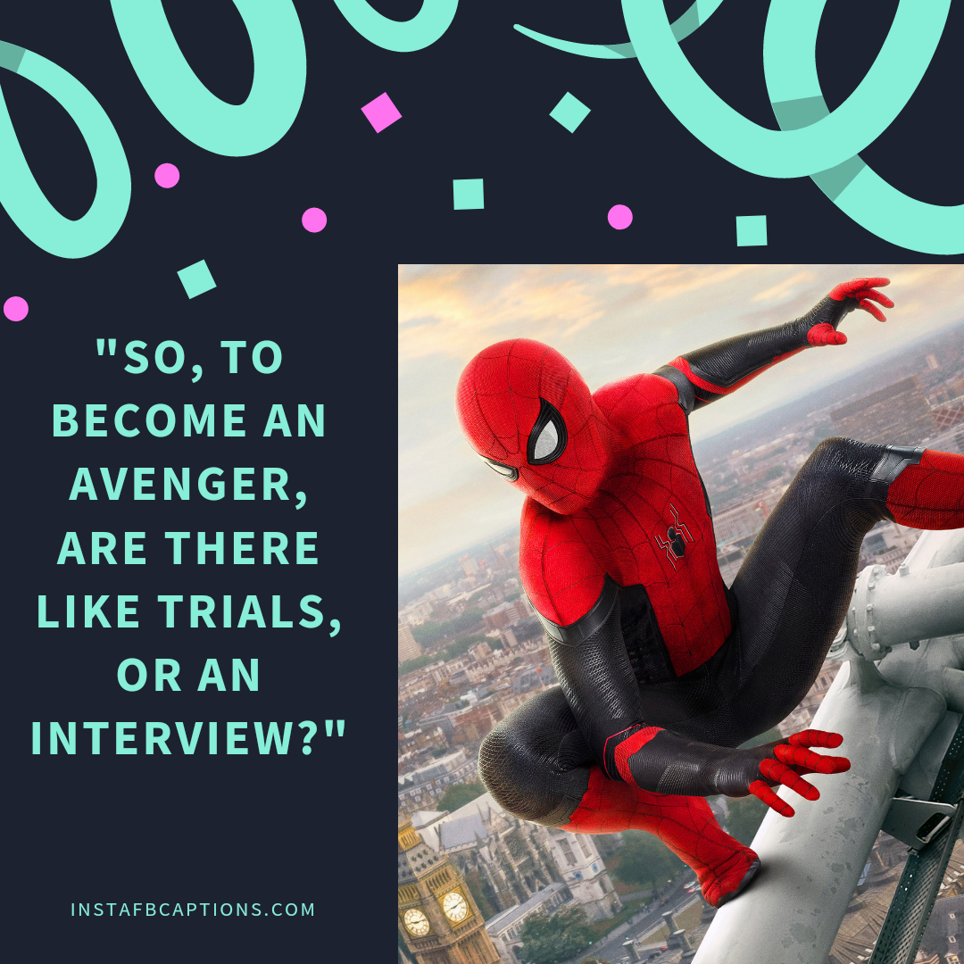 Ultimate Spiderman Captions  - Ultimate Spiderman Captions  - SPIDERMAN Dialogues, Captions & Quotes for Instagram Pictures in 2021