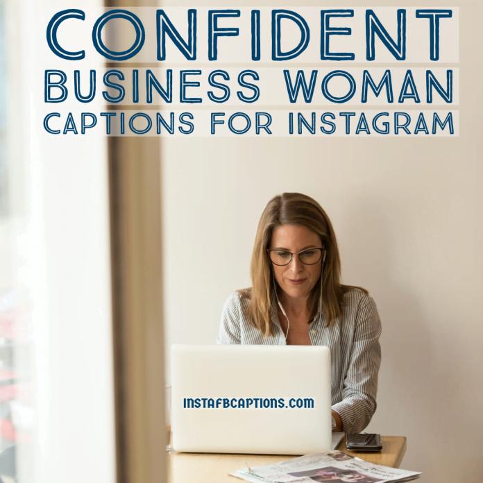 Confident Business Woman Captions