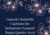 Ganesh Chaturthi Captions For Instagram  - Ganesh Chaturthi Captions for Instagram Ganpati Bappa Quotes 2021 100x70 - Best Instagram Captions of All Time