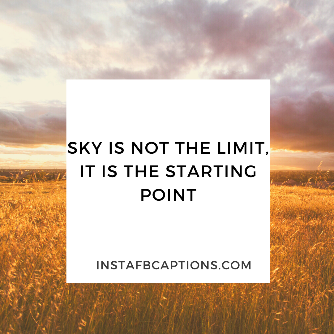 Sky & Limit Motivational Quotes  - Sky Limit Motivational Quotes - Beautiful SKY Quotes for Red and Blue Sky Pictures in 2021
